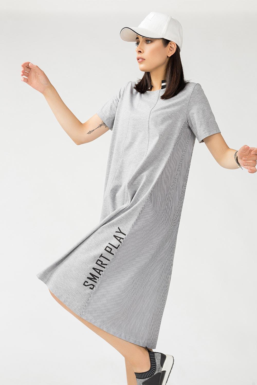 Купить Платье женское из комбинированной ткани, Urbantiger