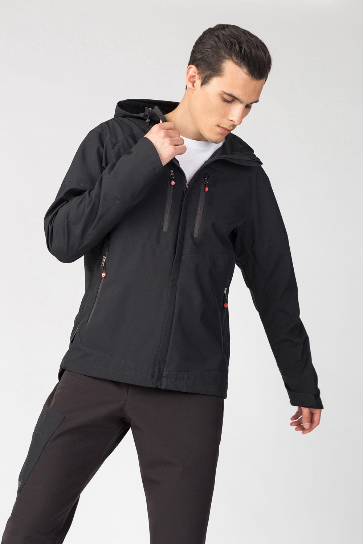 Купить Куртка с капюшоном черного цвета, Urbantiger