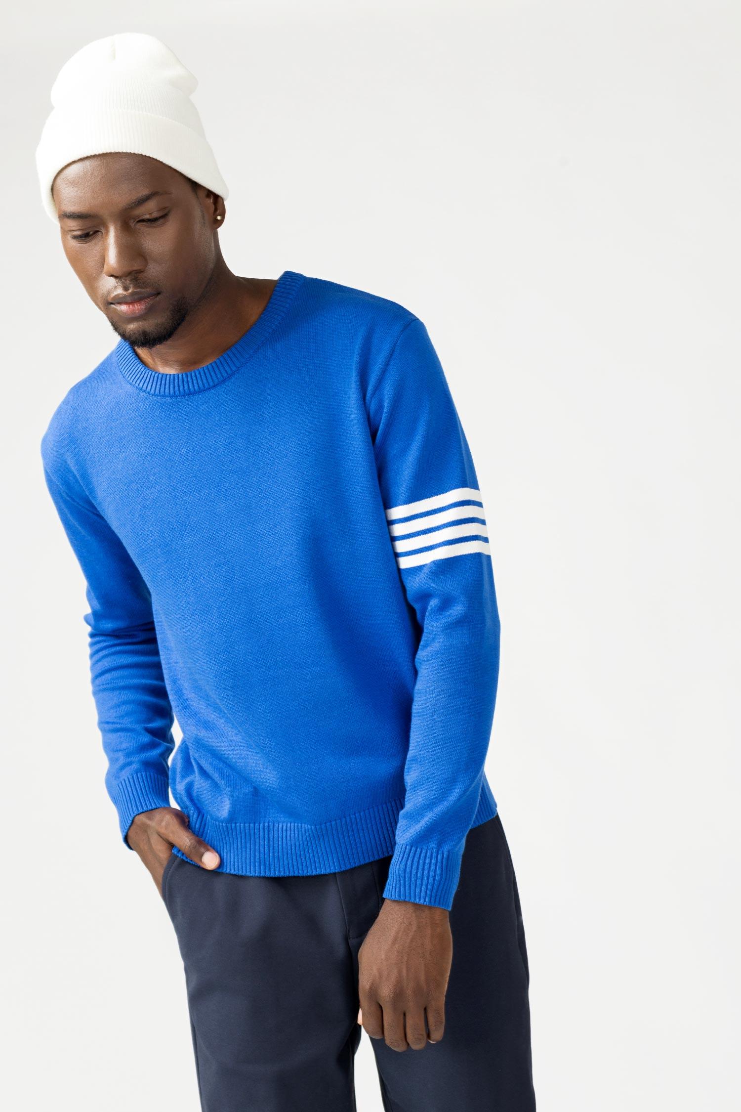 Купить Синий джемпер с полосками на рукаве, Urbantiger