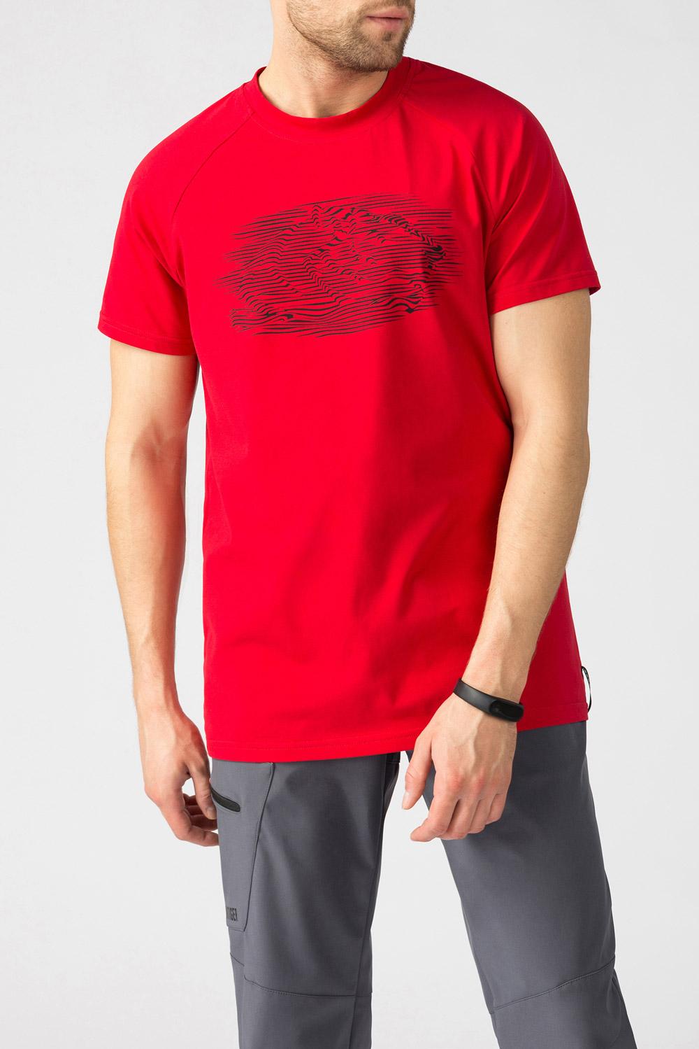Купить Красная футболка с принтом 01.013393, Urbantiger